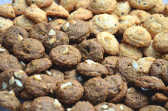 Cookies. Mix of sweet cookies close-up Royalty Free Stock Images