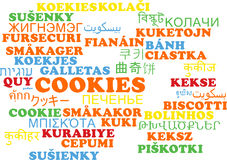 Free Cookies Multilanguage Wordcloud Background Concept Stock Photos - 58514243