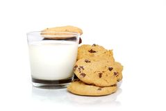 Cookies N Milk stock photos