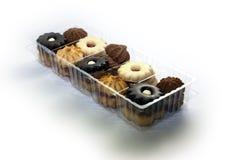 Cookies na caixa plástica Imagem de Stock Royalty Free