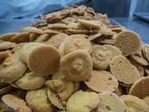 Cookies na fábrica Imagem de Stock Royalty Free