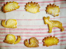Cookies na forma animal fotos de stock