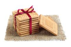 Cookies na forma de um quadrado foto de stock royalty free