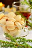 Cookies na tabela de ano novo em um copo de vidro Fotografia de Stock