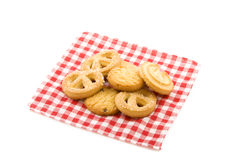 Cookies on a napkin Royalty Free Stock Image