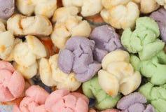 Cookies no formulário da flor Fotos de Stock Royalty Free