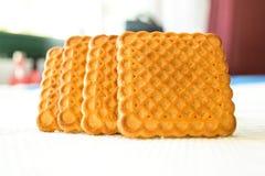 Cookies no fundo claro imagem de stock