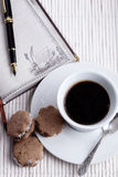 Cookies and Notebook Royalty Free Stock Images
