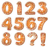 Cookies numbers and symbols Stock Image