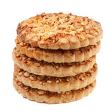 Cookies with a nut crumb. Royalty Free Stock Photos