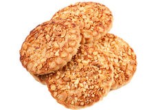 Cookies with a nut crumb. Stock Photos