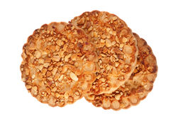 Cookies with a nut crumb. Royalty Free Stock Photo