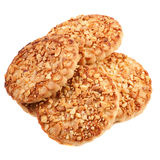 Cookies with a nut crumb. Stock Images