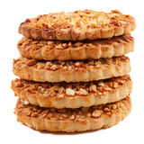 Cookies with a nut crumb. Stock Photography