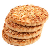 Cookies with a nut crumb. Stock Image