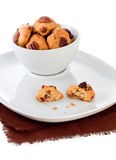 Cookies with nut and raisin Stock Photo