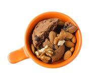 Cookies and nuts Stock Photos