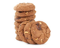 Cookies with nuts and chocolate Stock Image