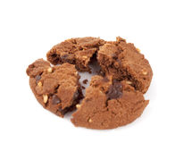 Cookies with nuts and chocolate Royalty Free Stock Photo