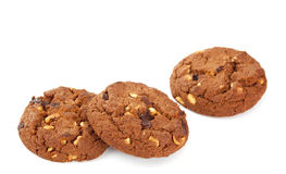 Cookies with nuts and chocolate Stock Photo