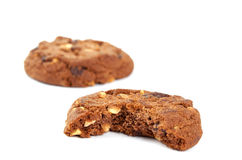 Cookies with nuts and chocolate Stock Photography