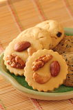 Cookies nuts Royalty Free Stock Photos