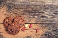 Cookies, nuts and chocolate Stock Image