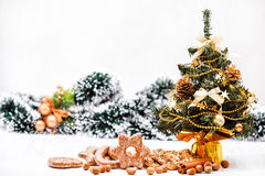 Cookies and nuts Royalty Free Stock Images