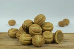 Cookies nuts com leite condensado foto de stock royalty free