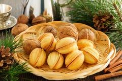Cookies nuts com leite condensado foto de stock