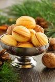 Cookies nuts com leite condensado imagens de stock royalty free