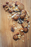 cookies and nuts mix Royalty Free Stock Photography