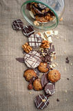 cookies and nuts mix Royalty Free Stock Images