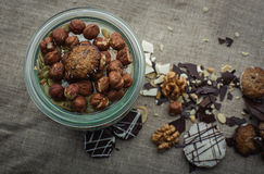 Cookies and nuts mix Stock Photos