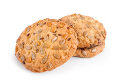 Cookies with nuts and seeds Stock Photography