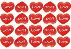 Cookies O amor da palavra Fotos de Stock