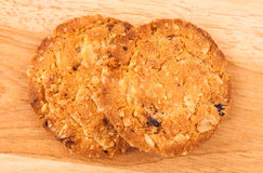 Cookies Oat meal with strawberry. Stock Photos