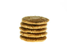Cookies Oat meal with strawberry. Royalty Free Stock Photography