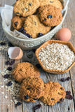 Cookies from oatmeal and raisins. Royalty Free Stock Image