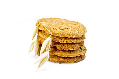 Cookies oatmeal stack Stock Photos