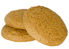 Cookies. Oatmeal cookies on a white background stock photography