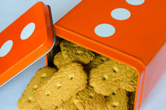 Cookies in a orange box. Stock Photos