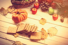 Cookies and other autumn things Stock Images
