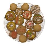 Cookies painted manually Royalty Free Stock Image