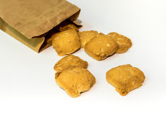 Cookies in a paper bag Royalty Free Stock Image