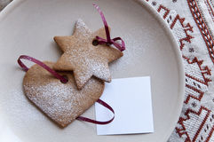 Cookies with paper note Royalty Free Stock Photography