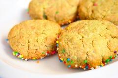 Cookies para a bandeja da sobremesa Imagem de Stock Royalty Free