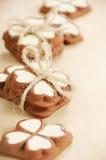 Cookies para o dia de Valentim Imagens de Stock Royalty Free