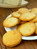 Cookies with parmesan Royalty Free Stock Images