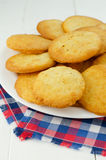 Cookies with parmesan Stock Photography